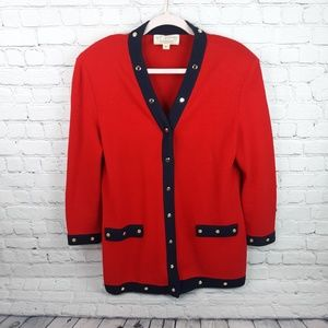 St. John Collection sweater cardigan size 8